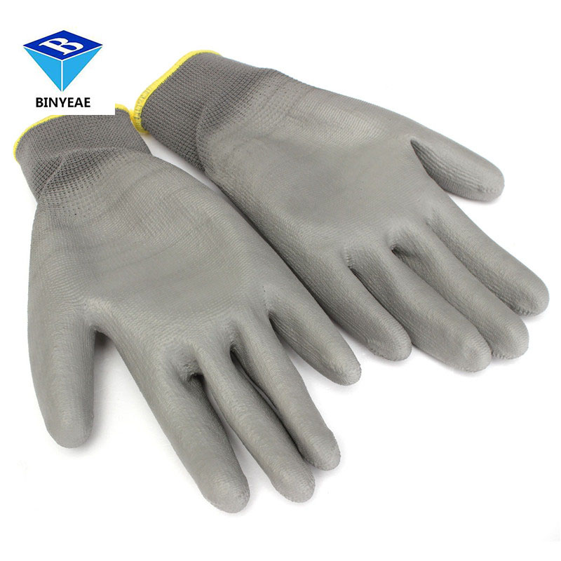 Durable Quality 1 Pair Pu For Palm Coated Precision Protective Safety Anti Static Work Gloves S M L Xl Xxl Free Shipping insulated gloves electric gloves 5kv anti live live work high pressure live work labor protection protective rubber gloves