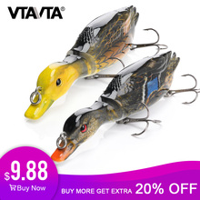 VTAVTA 13cm 34g Duck Swimbait Fishing Lure Multi Jointed Hard Bait Artificial Lures Pike/Floating Wobblers for Fishing Crankbait