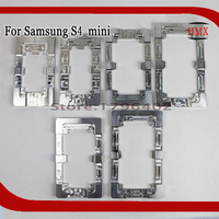 2Pcs Aluminium Metal Precise Moulds For Samsung Galaxy s4 mini Phone OCA Laminate Alignment Mold Replace LCD UV Glue Mold Glass