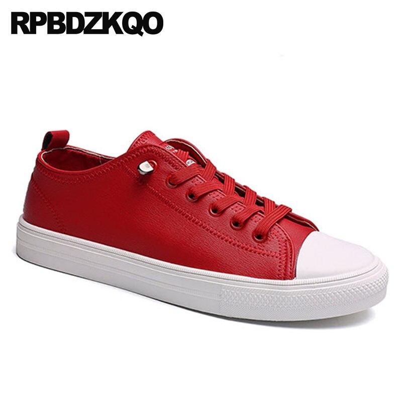 bdc69546d Prova Designer À vermelho Sapatilhas Moda branco Alta Dos Formadores Homens  Casuais Conforto Branco Preto Lace Skate Primavera Sapatos ...