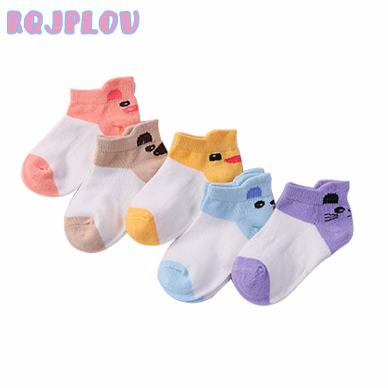 5 Pair/lot New Soft Cotton Boys Girls Socks Cute Cartoon Pattern Kids Socks For Baby Boy Girl 8 Kinds Style Suitable For 1-12Y