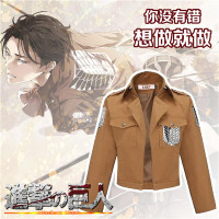 Attack on Titan Jacket Shingeki no Kyojin Legion Cosplay Costume fantasia Jacket Coat S XXL Plus Size Eren Levi