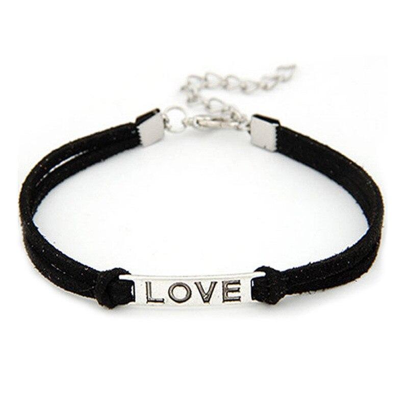 Women Bracelet Love Handmade Alloy  Rope Charm Jewelry Bracelet                  52510