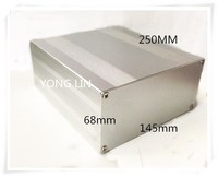 1 Pieces Alumium Box Player Case Electronic Box Amplifier Case 145 68 250 Aluminum Chassis