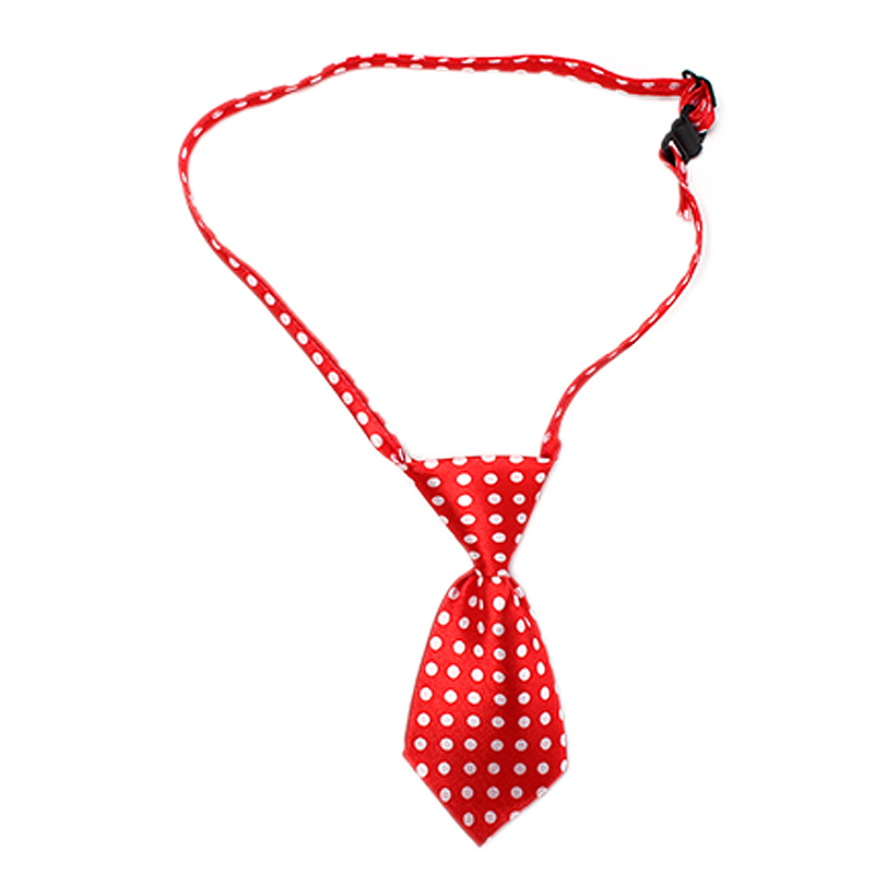 NEW Dog Cat Pet Lovely Adorable Tie Necktie Dot Red+White