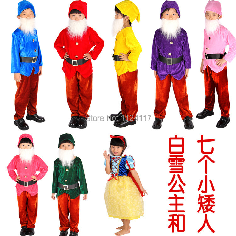 Christmas Costumes Snow White and Seven Dwarfs Cosplay Halloween Costume for Kids Children Party Dress Carnival Costume CC0661-in Anime Costumes from ...  sc 1 st  AliExpress.com & Christmas Costumes Snow White and Seven Dwarfs Cosplay Halloween ...