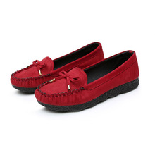 2017 spring Cotton-made beijing footwear ladies's footwear bow Moccasins flat-bottomed single  all-match cotton-padded  work footwear