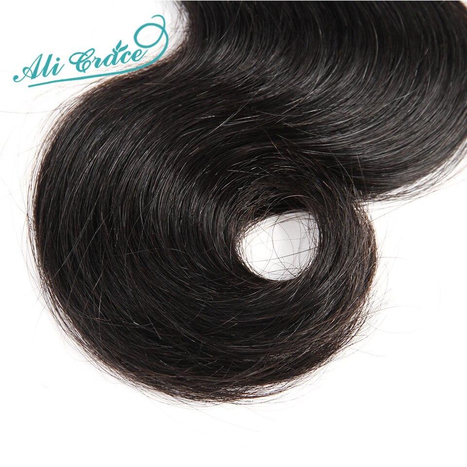 HTB1H4lmhjihSKJjy0Fiq6AuiFXaP Ali Grace Brazilian Body Wave Hair With Closure 4*4 Free Middle Part Closure with Bundles Remy Human Hair Bundles With Closure