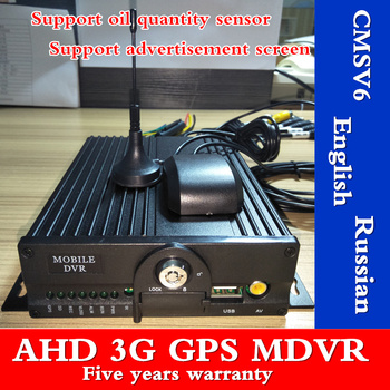 MDVR direct selling 3G 4 channel dual SD card car video recorder GPS monitor host truck mobile dvr