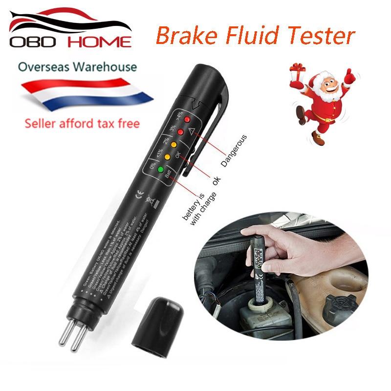 Мини Электронная жидкость для испытания тормозной жидкости ручка Авто 5LED жидкость для автомобиля тест er диагностический инструмент тест т...