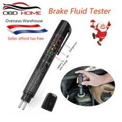 Mini Electronic Brake Fluid Liquid Tester Pen Auto 5LED Car Fluid Liquid Tester Diagnostic Tool Test Brake Oil For DOT3 DOT4