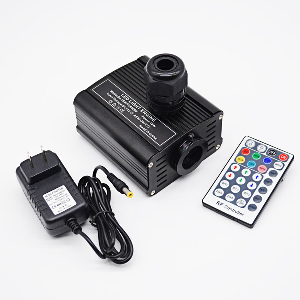 Fibre optique optique pour la maison lueur RF télécommande plafond LED RGBW Source décorative lumière moteur pilote Multi Mode étoile
