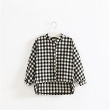 Spring long sleeve t-shirt for girls lattice shirts children tops childrens clothing tees