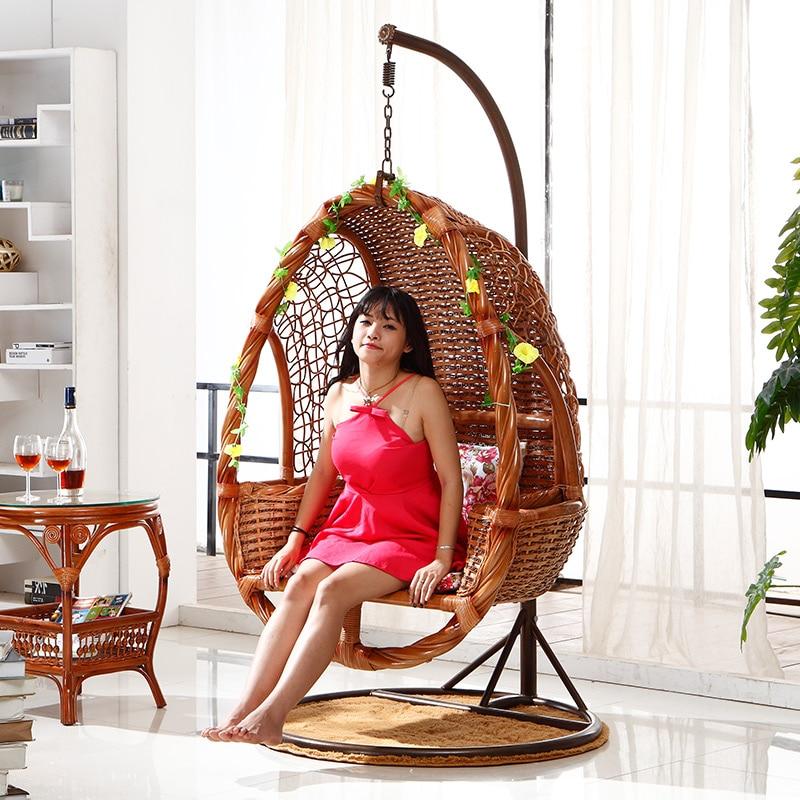 Outdoor Rattan Basket Swing Hanging Chair Indoor Indonesian Imports