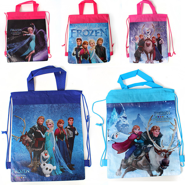 12e7e26eb3e Free Shipping 2014 New Frozen Violetta Winnie the Pooh Kids Gifts Children  Drawstring Backpack School Bags tote bags Wholesale
