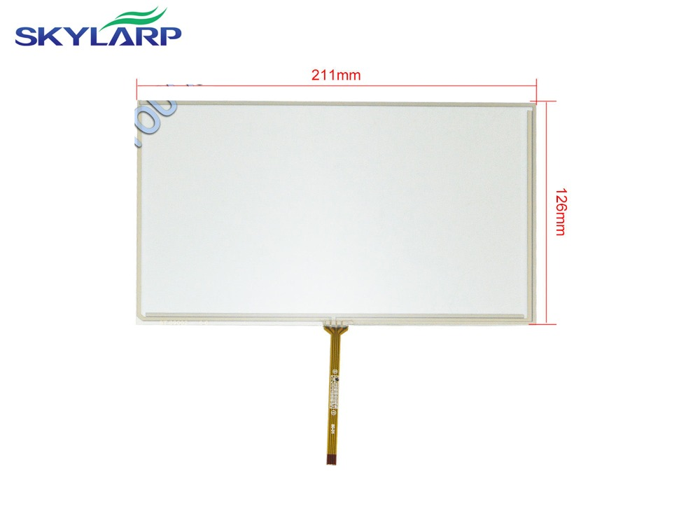 New 9 inch 4 Wire Resistive Touch Screen Panel for AT090TN10 TFT LCD Screen 211x126mm Screen touch panel Glass Free shipping  цены
