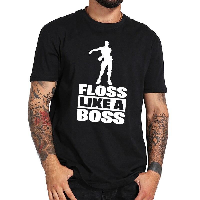 Hilo dental como un jefe T camisa o cuello de hombres camisetas de verano Casual de algodón de manga corta Camiseta Harajuku Unisex T camisa tamaño de la UE