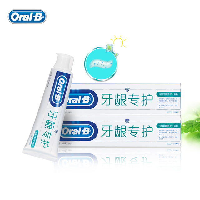 Oral B Daily Gum Care+ Fresh Toothpastes Fluorinated Gum Health Relieves Gum Problems Cool Peppermint Tooth Pastes 140g*2pcs HOT