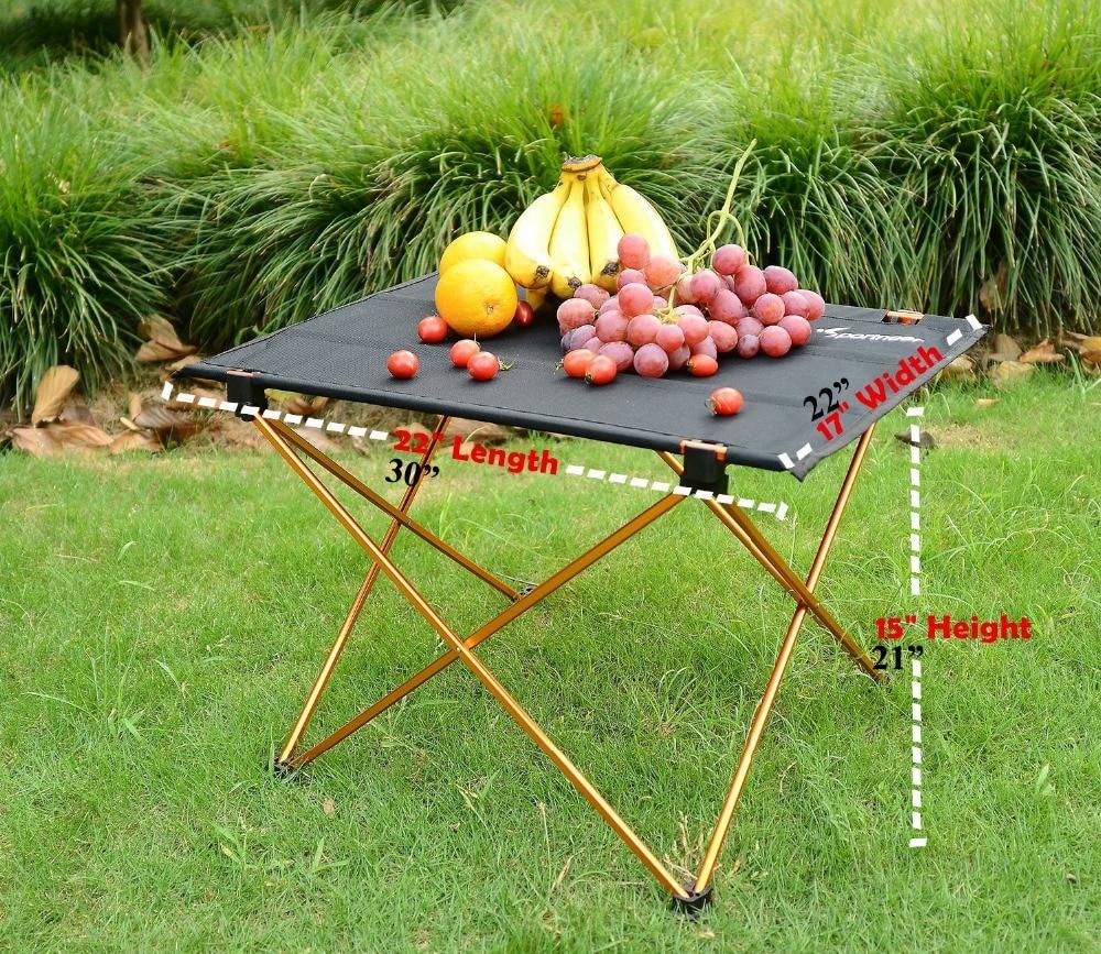 Outdoor Picknicktafel Camping Aluminium Picknicktafel Waterdicht - Meubilair - Foto 6