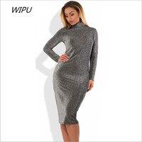 2018 New Plus Size Winter Women Dresses Sexy Bandage Bodycon Party Club Dress 5XL 6XL Long