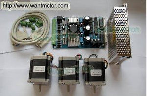 (USA Ship & Free to EU,CA) High Nema 23 Stepper Motor 270oz-in,3.0A +3 Axis Board 3D Printer CNC Kit ,57BYGH633, 6Leads, 2phases  цена и фото