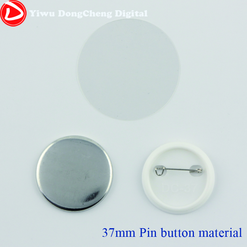 FreeShippng  1.5(37mm)1,000  Plastic Pin Badge Material,Blank button parts,Tin badge components good quality 1 3 4 44mm 1000sets plastic pin badge material blank button parts tin badge components supplier