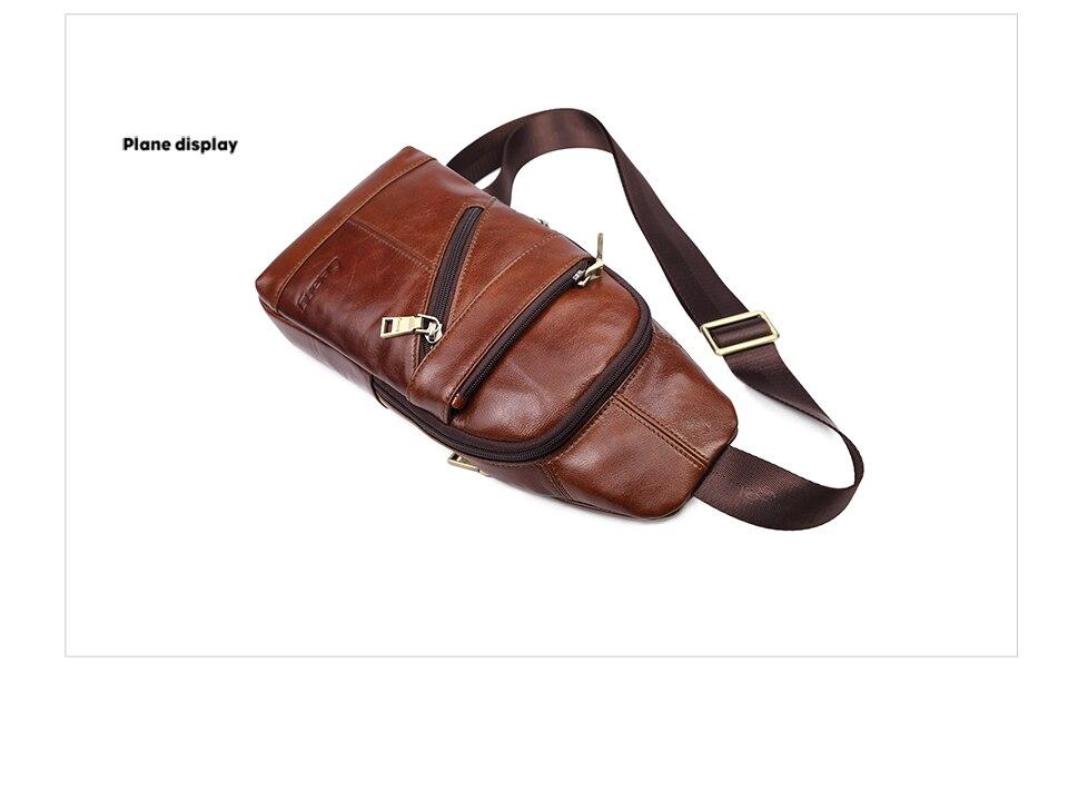 Lielang Men Shoulder Bag Messenger Genuine Leather Waterproof Crossbody Messenger Bag For Men Vintage Bag Crossbody Bag Business Home