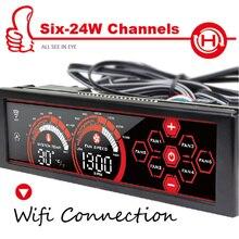 ALSEYE a-100H контроллер Вентилятора с Wi-Fi, 5.25 «6 Канала Контроллер Скорости Вентилятора для КУБОК Кулер/Вентилятор Охлаждения Воды Сенсорный ЖК-Экран