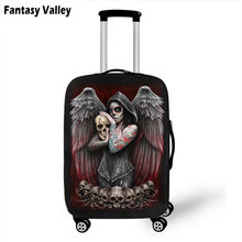 Death Angel Skull / Grim Reaper Luggage Protective Covers Elastic Travel Accessories Trolley Suitcase Dust Cover For 18-28 inch(China)