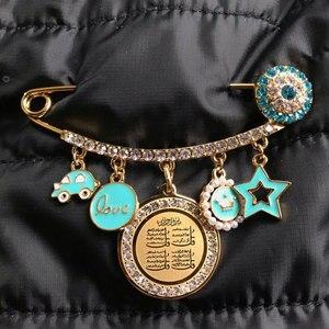 Image 3 - ZKD moslim islam Allah vier Qul suras Rvs Pin broche Baby Pin