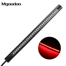 Mgoodoo Motorcycle Flexible Strip Led Turn Signal License Plate Light Strip ATV Tail Brake Stop Lights 32 LED Integrated Light universal flexible led strip stop light motorcycle turn signal brake tail strip 48 smd led strip tail light motorcycle motorbike