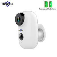 Hiseeu Wireless Rechargeable Battery Wifi IP Camera Outdoor IP65 Weatherproof Home Security Camera PIR Motion Alarm Wide View