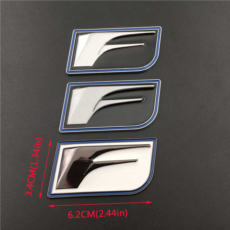 Untuk Lexus IS250 RX300 NX RX RX350 GS300 GX470 CT200H RX330 Modifikasi Mobil F-Olahraga Mobil Sisi Stiker Emblem kendaraan Tubuh Lencana