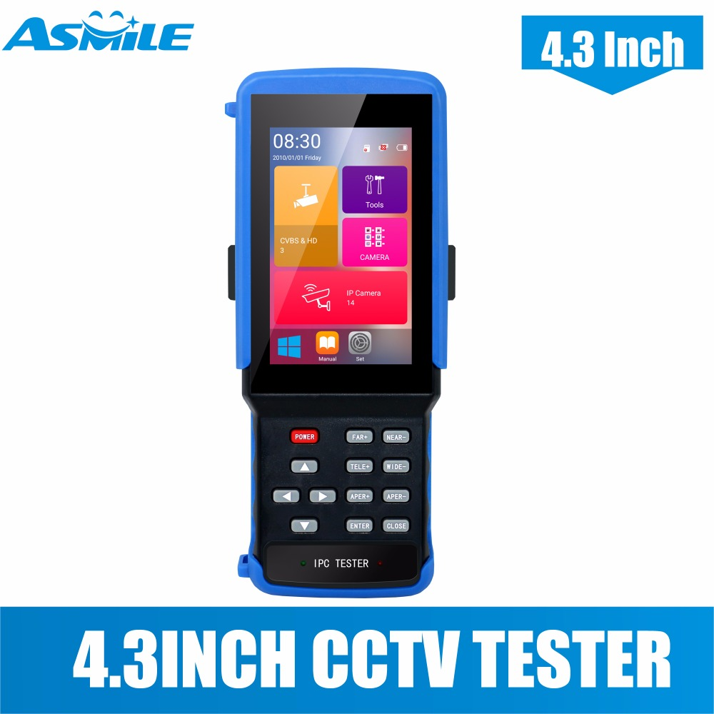 4 3inch cctv tester 5 in 1 CCTV camera tester for TVI CVI AHD IP analog