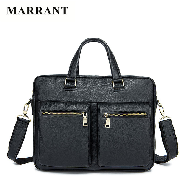 MARRANT Business 100% Genuine Leather Men Briefcase Designer Handbags High Quality Nature Leather Men Shoulder Bag Crossbody Bag