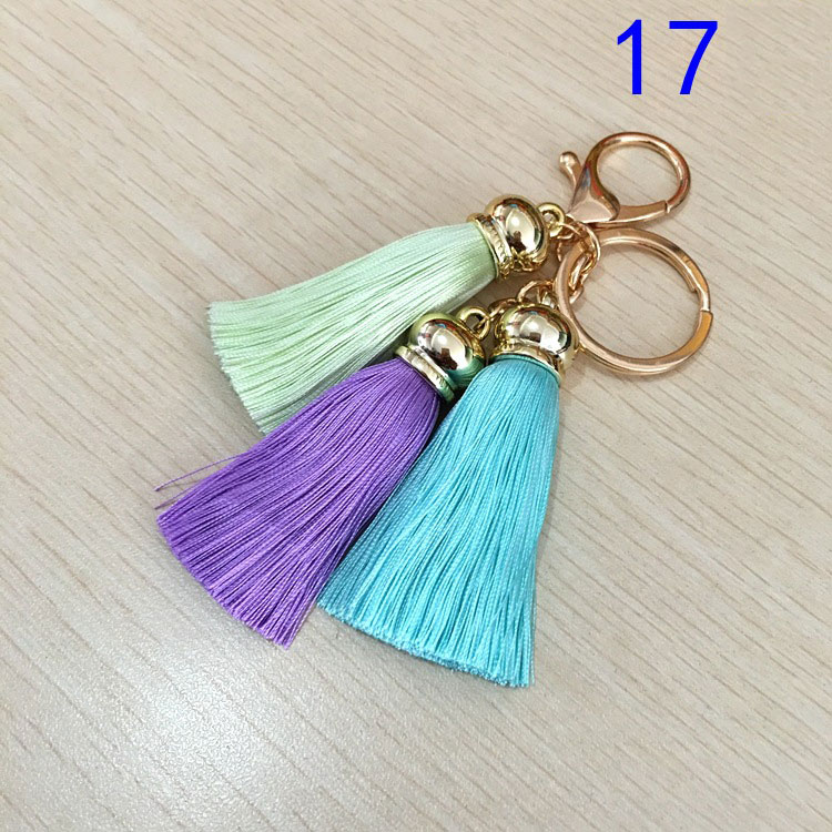 3pcs/lot three tassel silk fringe sewing bang flower tassel trim decorative pendant tassels for Key button package accessories