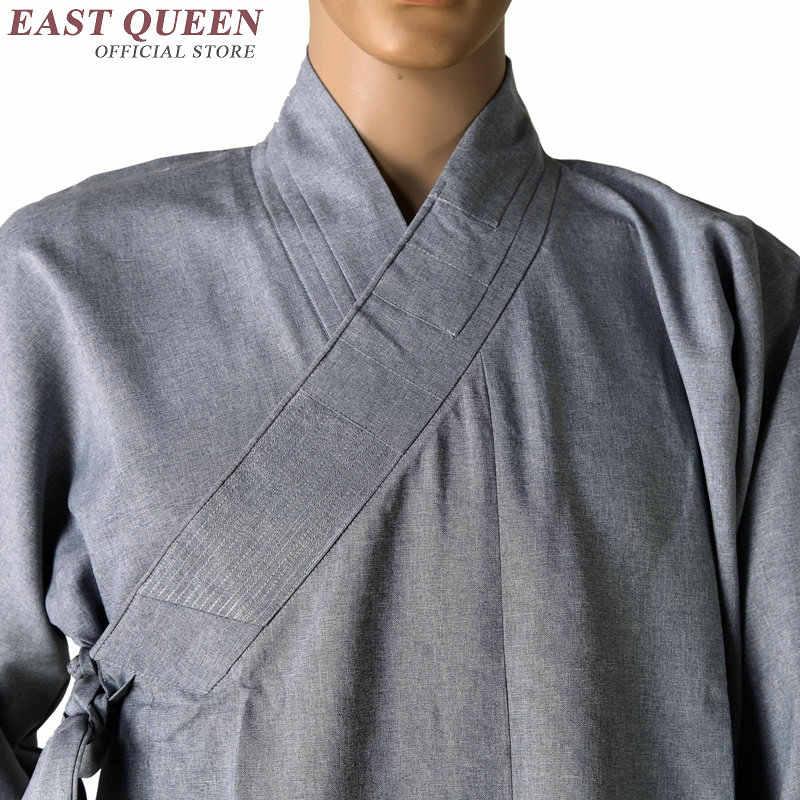 僧侶のローブ中国少林寺モンクローブ男性伝統的な僧侶服制服少林寺の僧の服 AA971