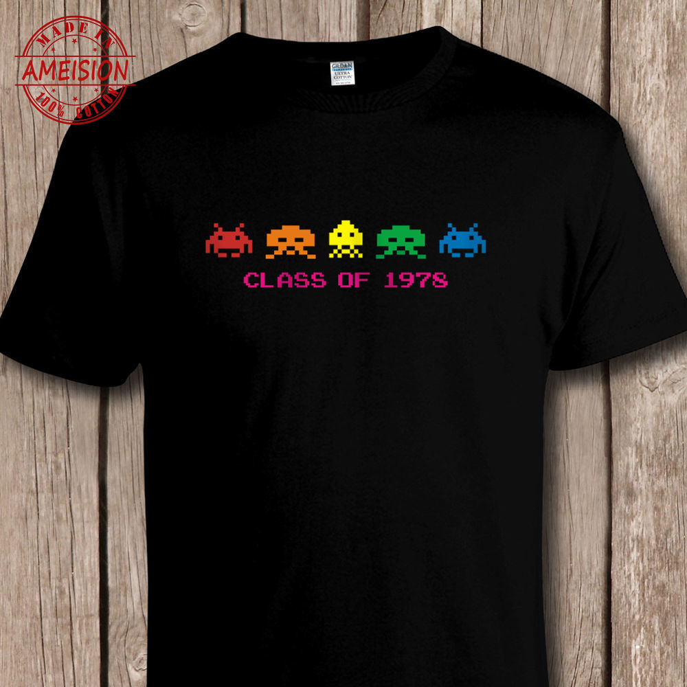 Funny Retro SPACE INVADERS 'Class of 1978' T SHIRT - C64 / Console Video Games Cool Casual pride top tee shirt men New t-shirt