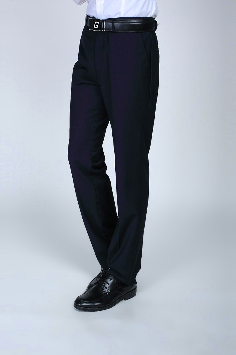 Wedding Dress Straight Groom Dark Blue Pants Party Prom Men Pants ...