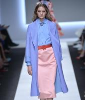Wholesale Blue Purple Thick Cashmere Wool Fabric Cloak Coat Print Satin Floral Process Tweed Fabrics Fleece