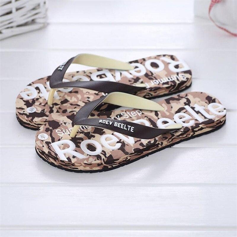 Летний Для мужчин Камуфляжная обувь Сандалии для девочек Мужской тапочки помещении или на открытом воздухе Сланцы Повседневное мужская пляжная обувь Размер 40-44 - Цвет: Коричневый