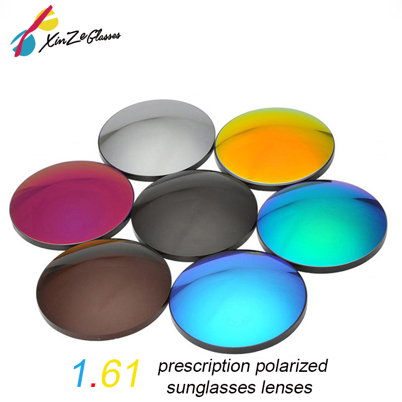 XINZE 1.61 haute qualité polarisée Prescription conduite lunettes de soleil lentilles myopie hyperopie presbytie astigmatisme lentille miroir