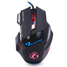 2016 new usb wired optical gaming mouse led with 7 buttons gaming mouse mice professional for computer laptop raton ordenador