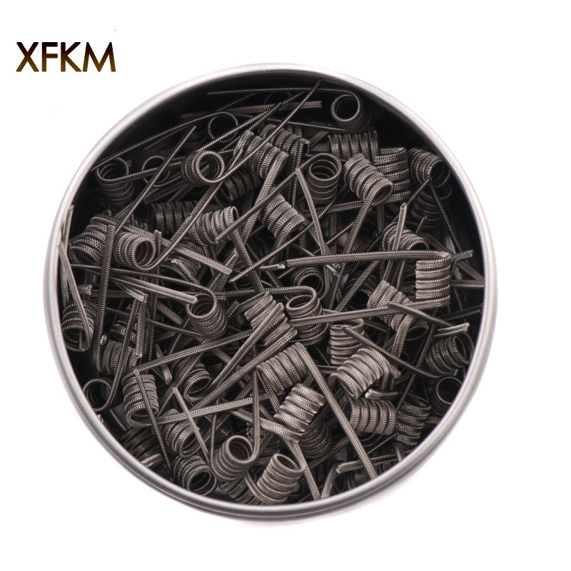 NEW XFKM NI80 A1 SS316L 100pcs/lot Prebuilt Coil ALIEN V2 wire coils Heating Resistance Wire Fit RDA RDTA DIY Atomizer 100pcs lot ka331 dip 8 new origina