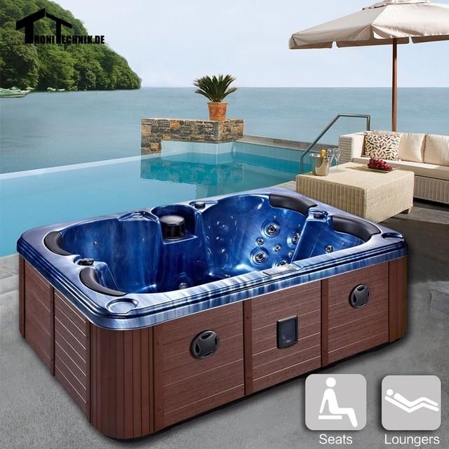 2100mm Blue Hot Tub Tubs Massage Bathtub Outdoor Spa 2 4 Person .