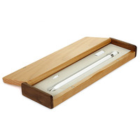 Wooden Carry Pouch Sleeve Portable Protective Box Bag Case For Apple Pencil Pro Pencil Box Protection Pencil Case Holder