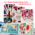 Cubierta del teléfono de xiaomi redmi note 3 pro note 3 softlyfit relieve lindo de impresión tpu case para xiomi note3pro redmi nota $ number