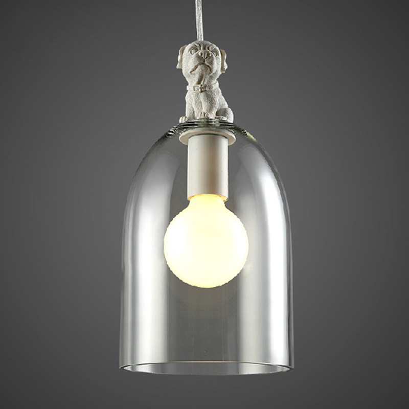 Nordic loft vintage resin angry puppy pendant light fixture DIY home deco living room creative glass E27 LED bulb pendant lamp gilbert e big magic creative living beyond fear