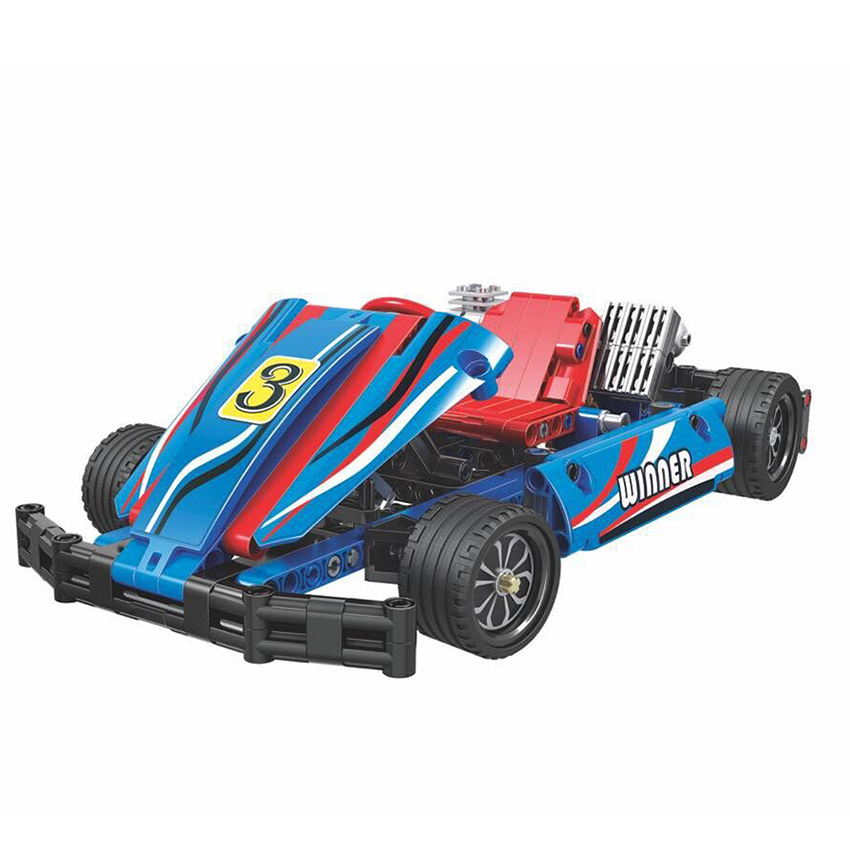 Winner 7066 371pcs Technic Kart Racing Car Building Blocks Educational DIY Bricks Toys for Children Christmas Gift Funny Toys