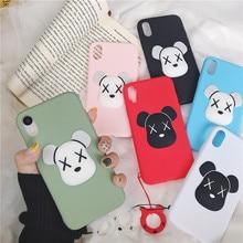 Hot 3D Cartoon violent bear Case For iphone 7 Plus Soft TPU Phone 6 6S 8 X XR XS Max Cover